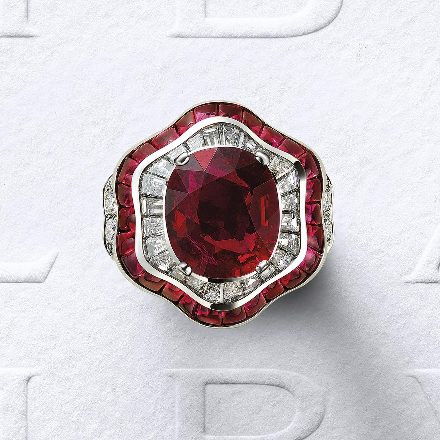 Bulgari Barocko Ruby Drapery ring