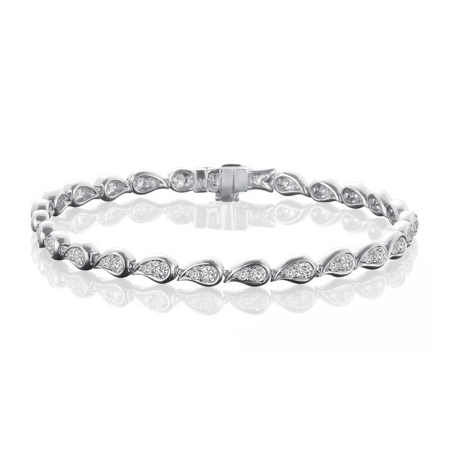 Boodles Daquiri Diamond Bracelet In Platinum