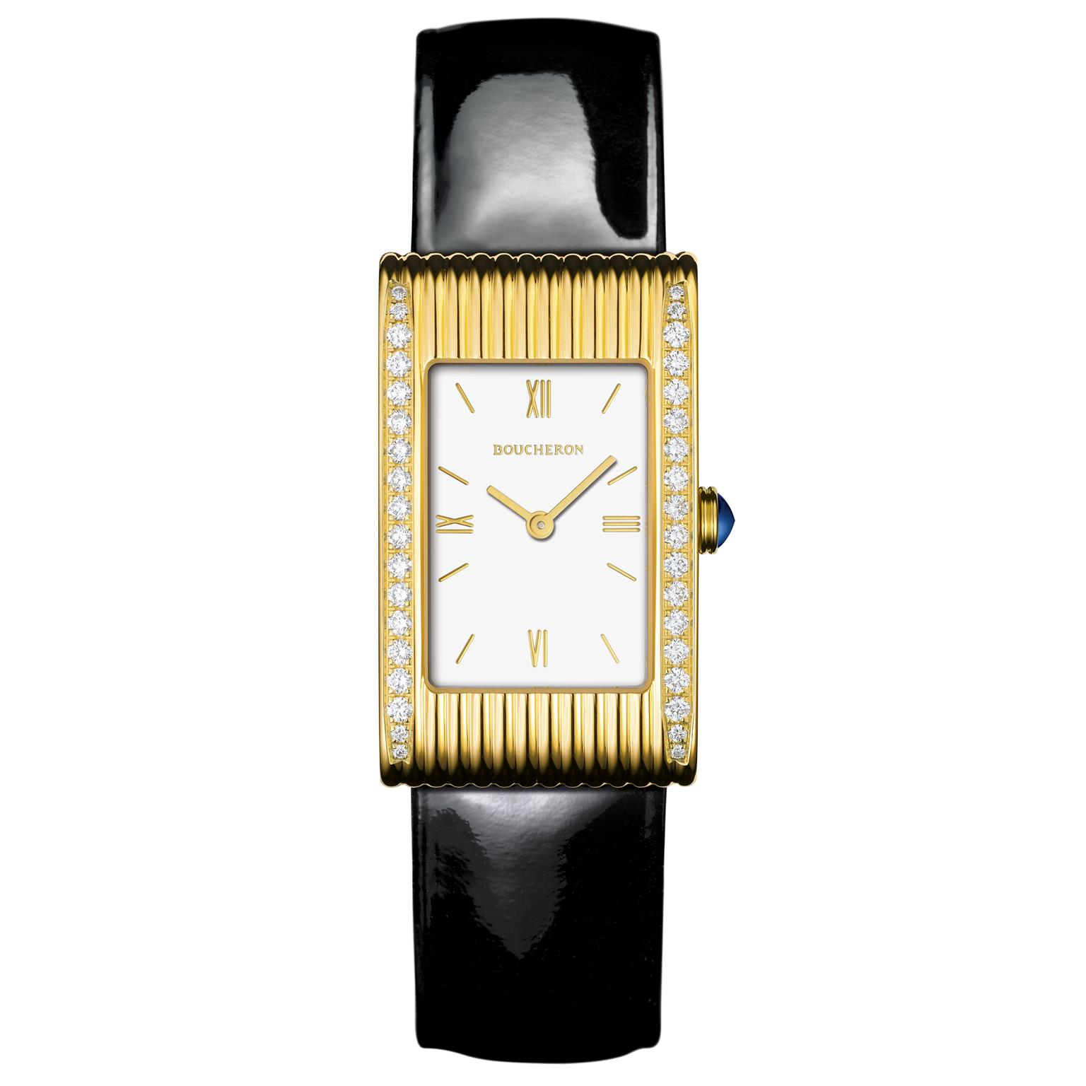 Boucheron Reflet medium watch in yellow gold