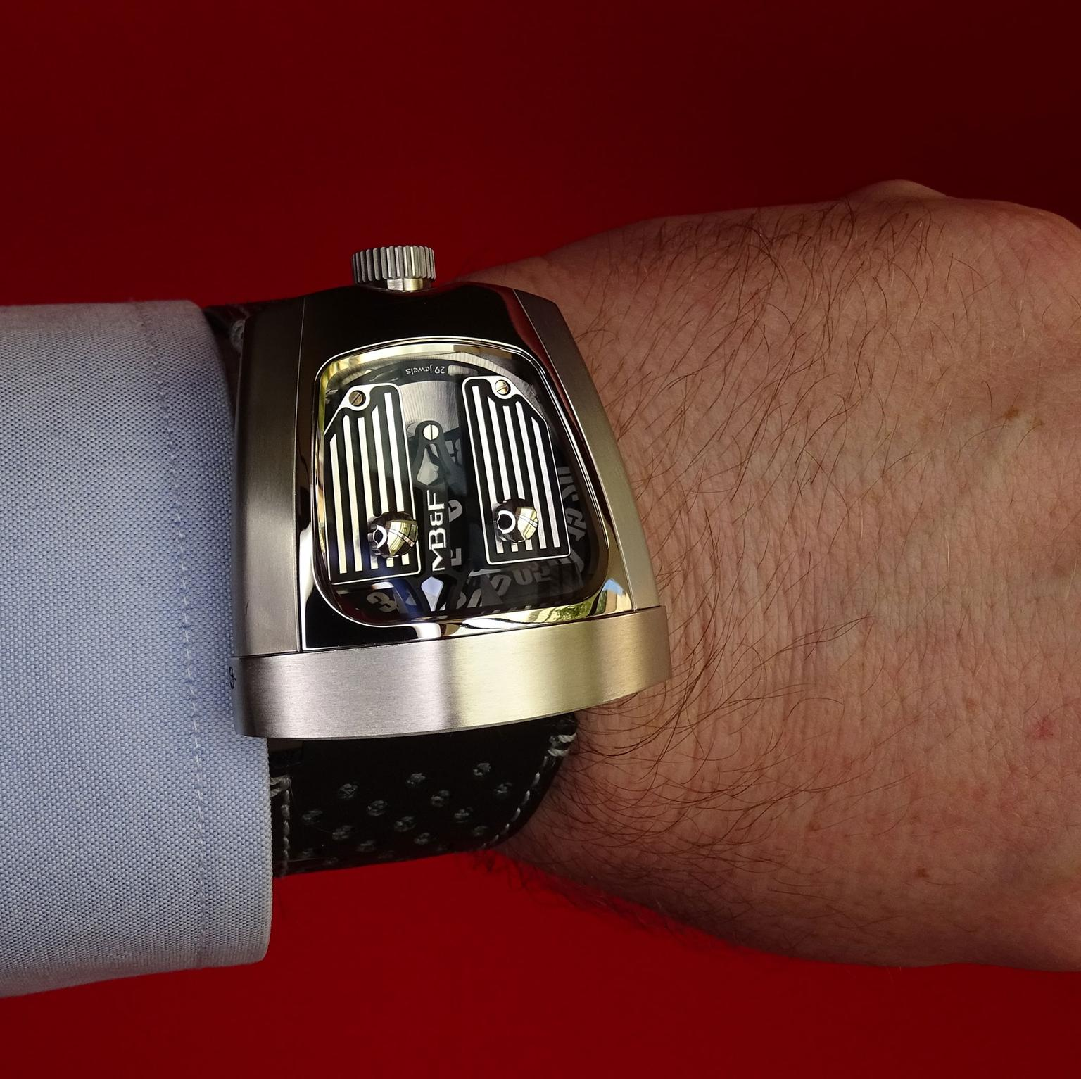 SIAR Madrid MB &F HMX spaceship watch
