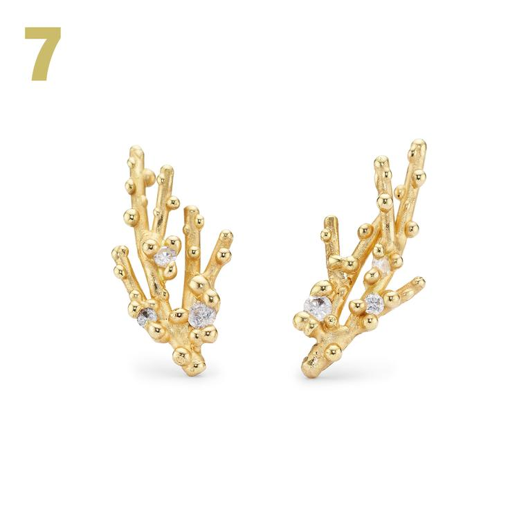 Ruth Tomlinson diamond earrings with stud granules