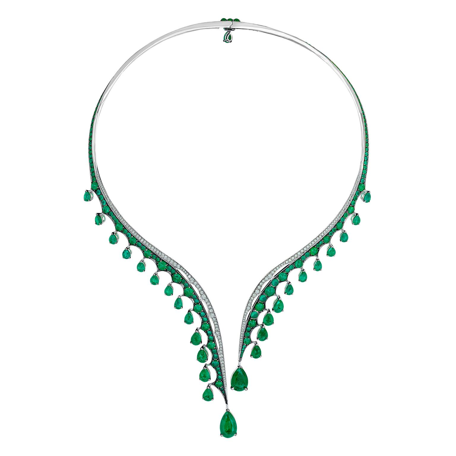 Vanleles Legends of Africa Gemfields emerald choker