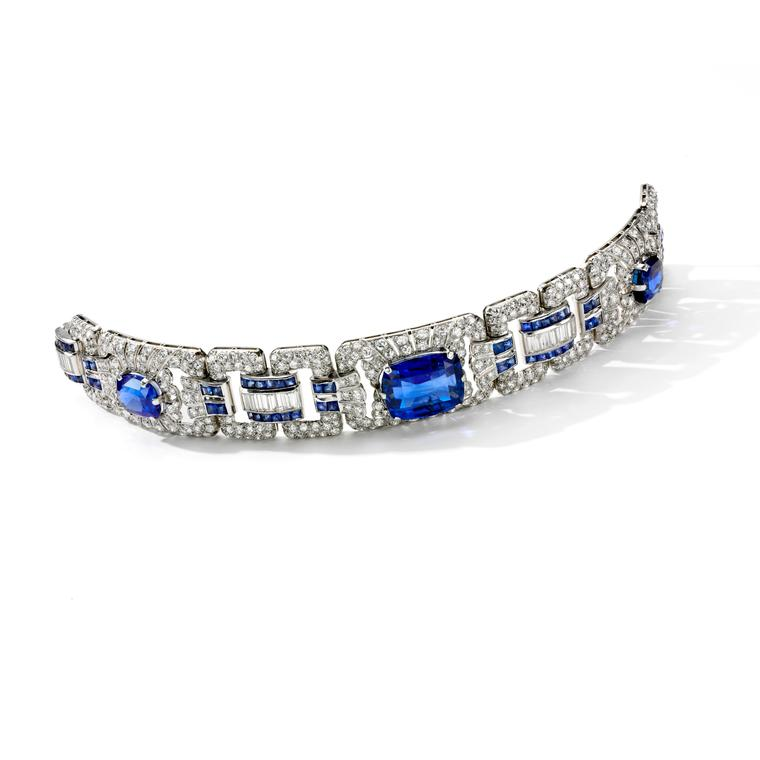 Lot 374 sapphire and diamond bracelet