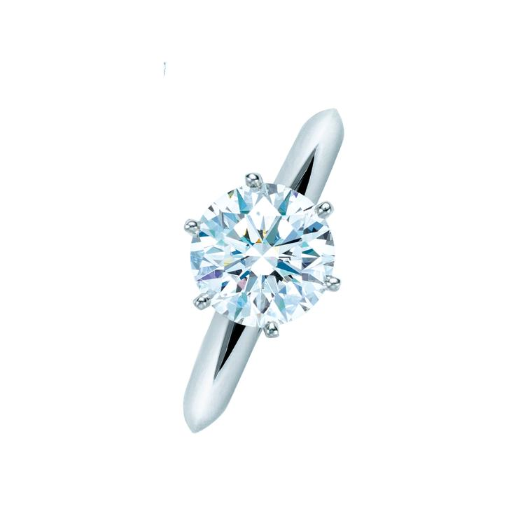 Tiffany setting diamond ring