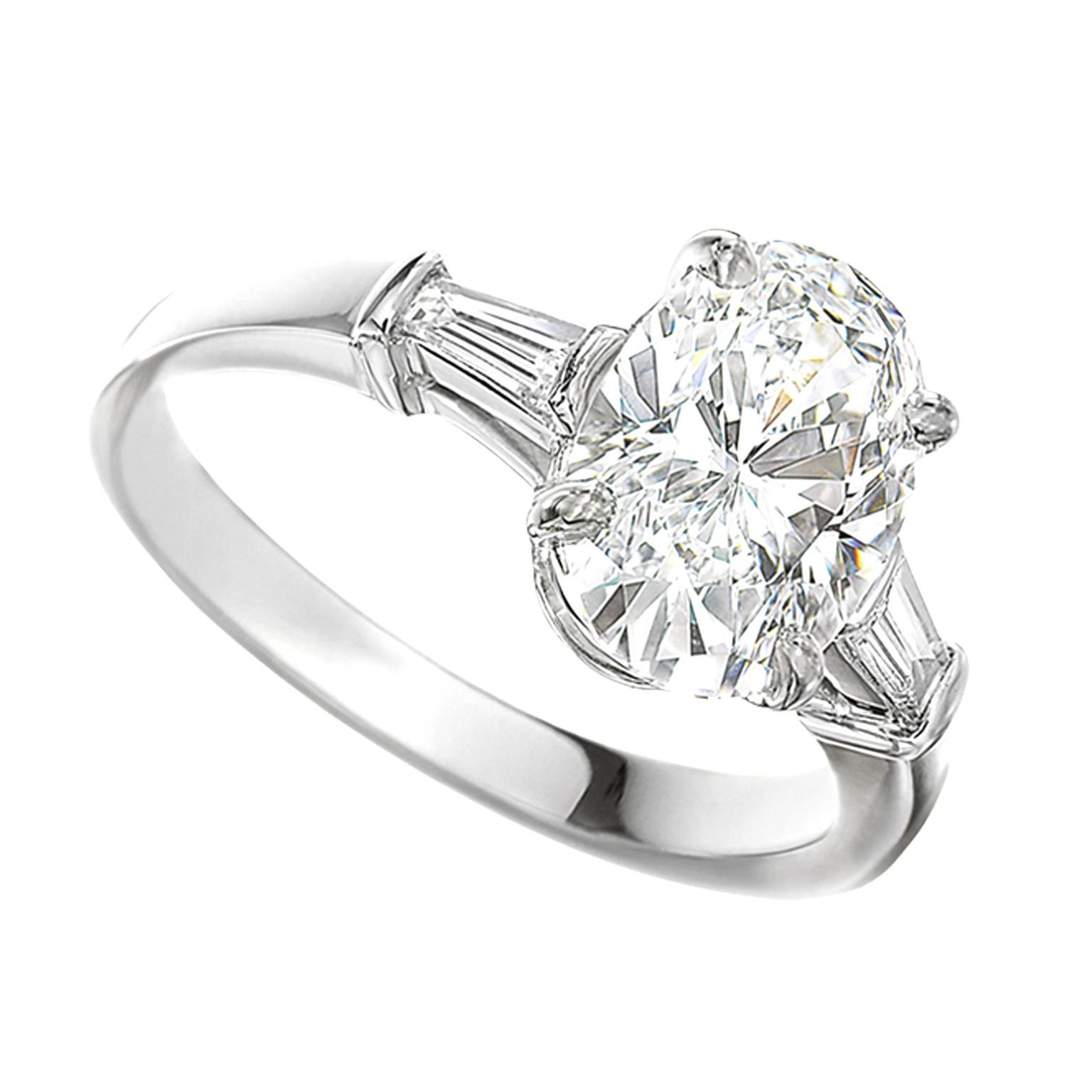 Bulgari oval-cut diamond engagement ring