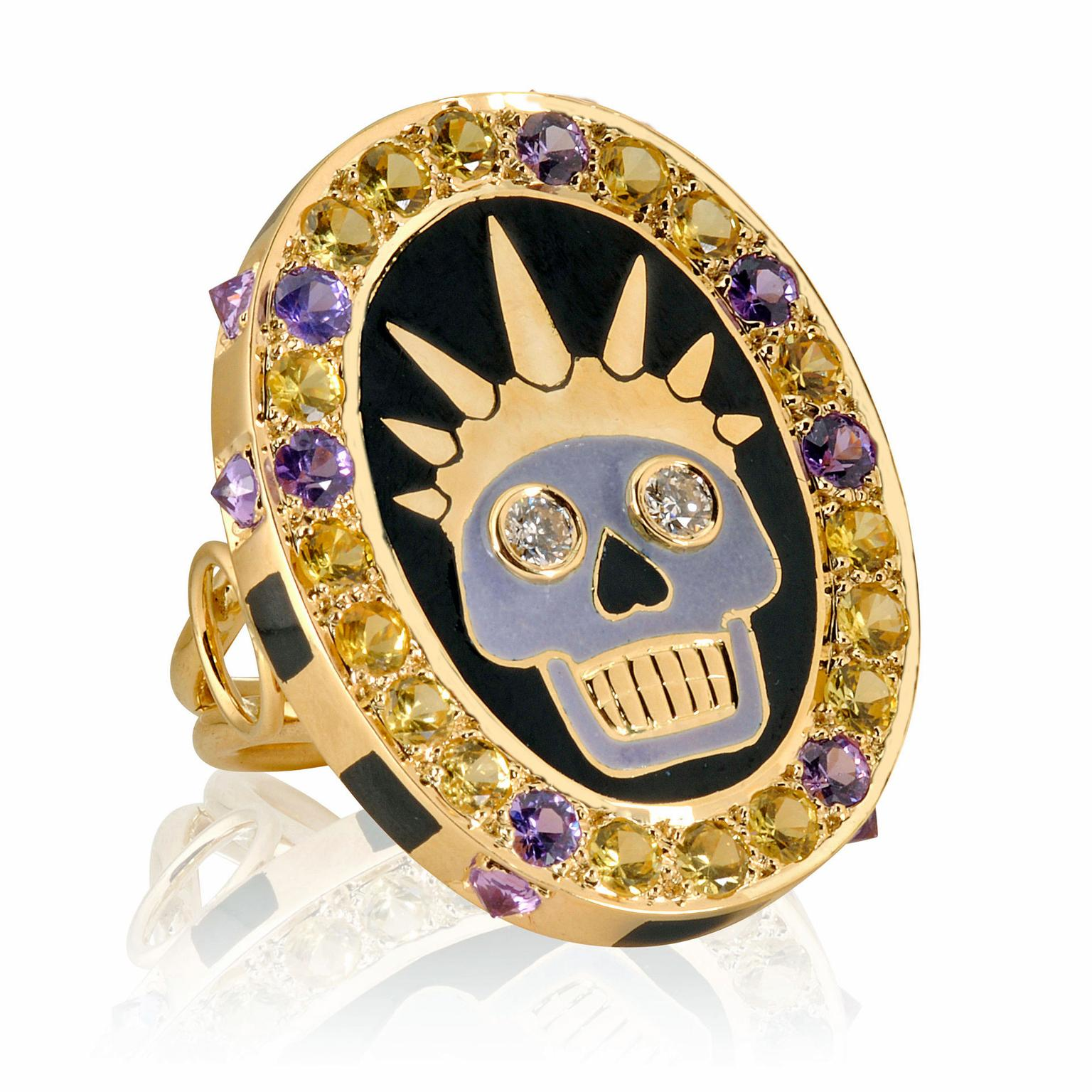 Holly Dyment skull ring