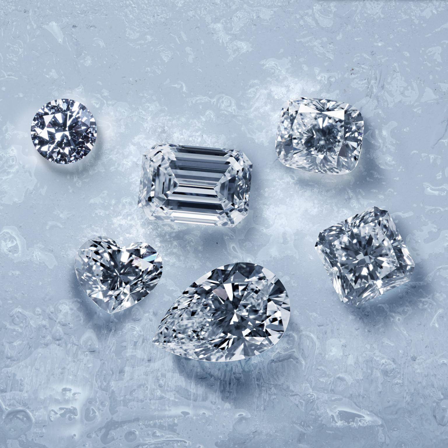 Diavik cut diamonds