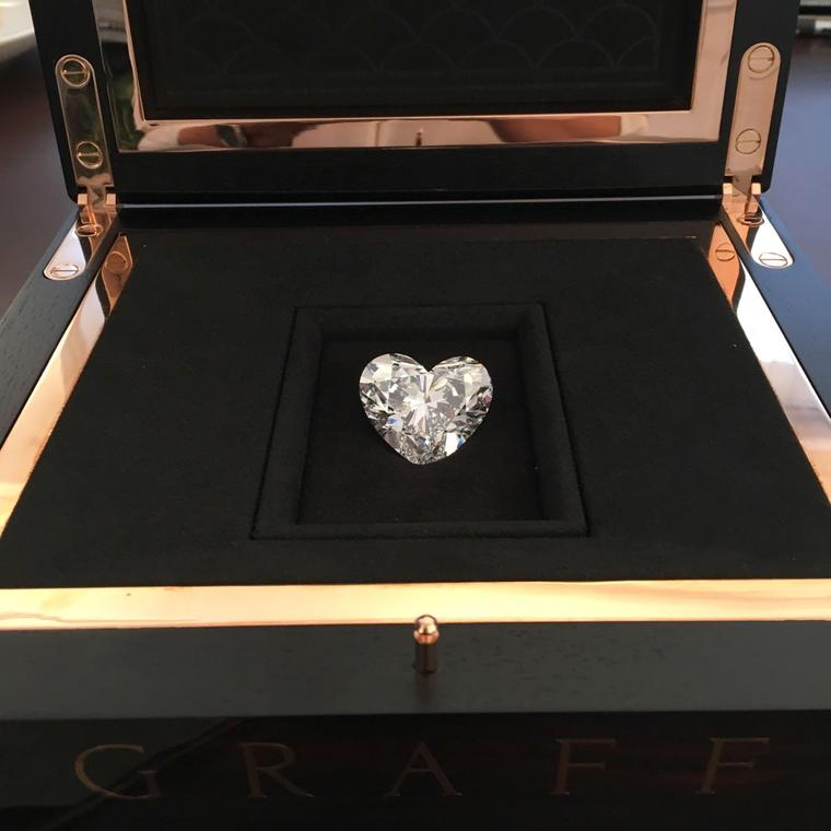 The record breaking Graff Venus heart shape diamond