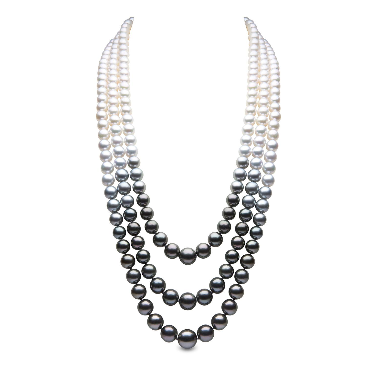 YOKO London Twilight graduated pearl necklace