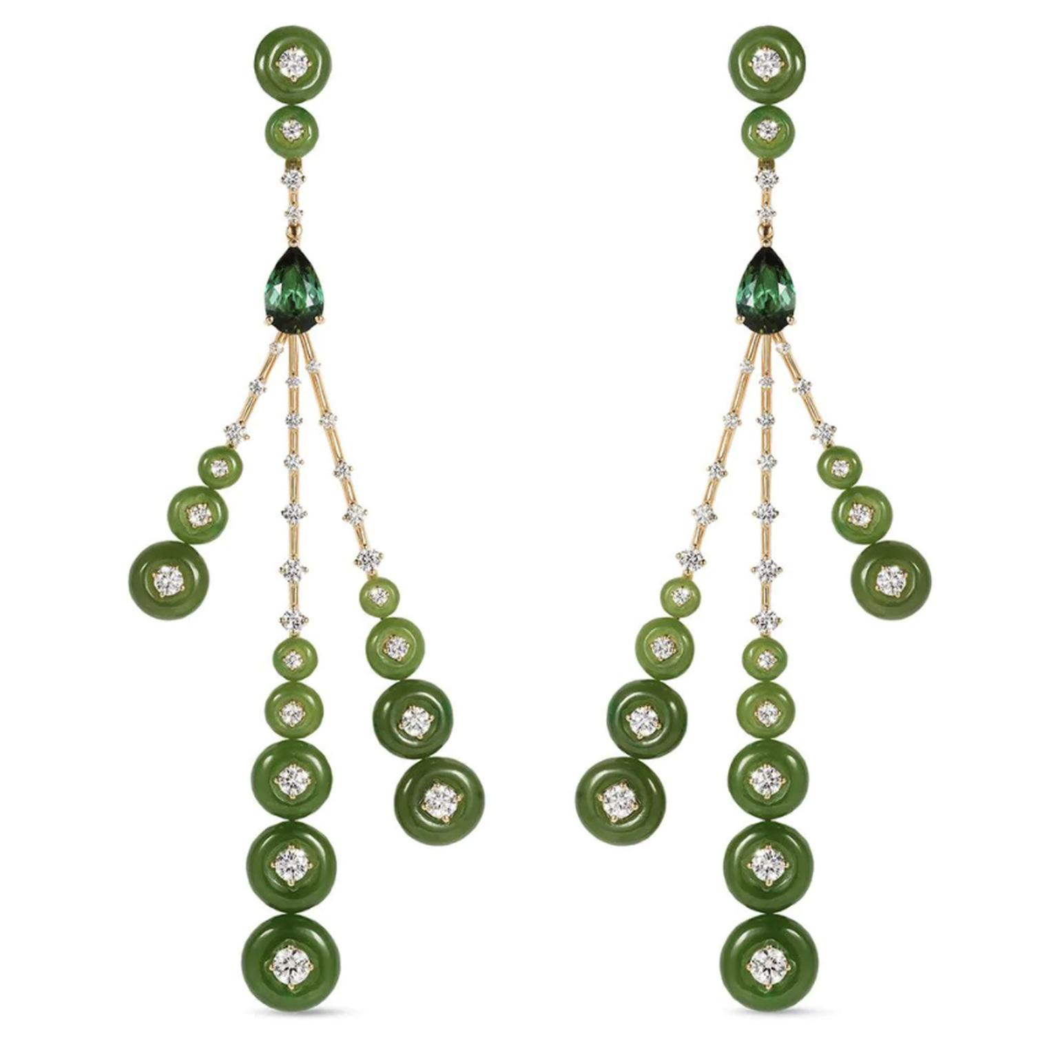Jade earrings by Fernando Jorge