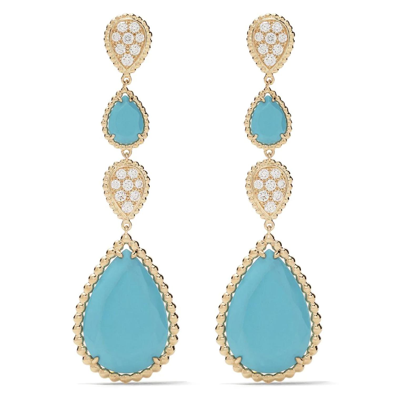 Turquoise earrings by Boucheron