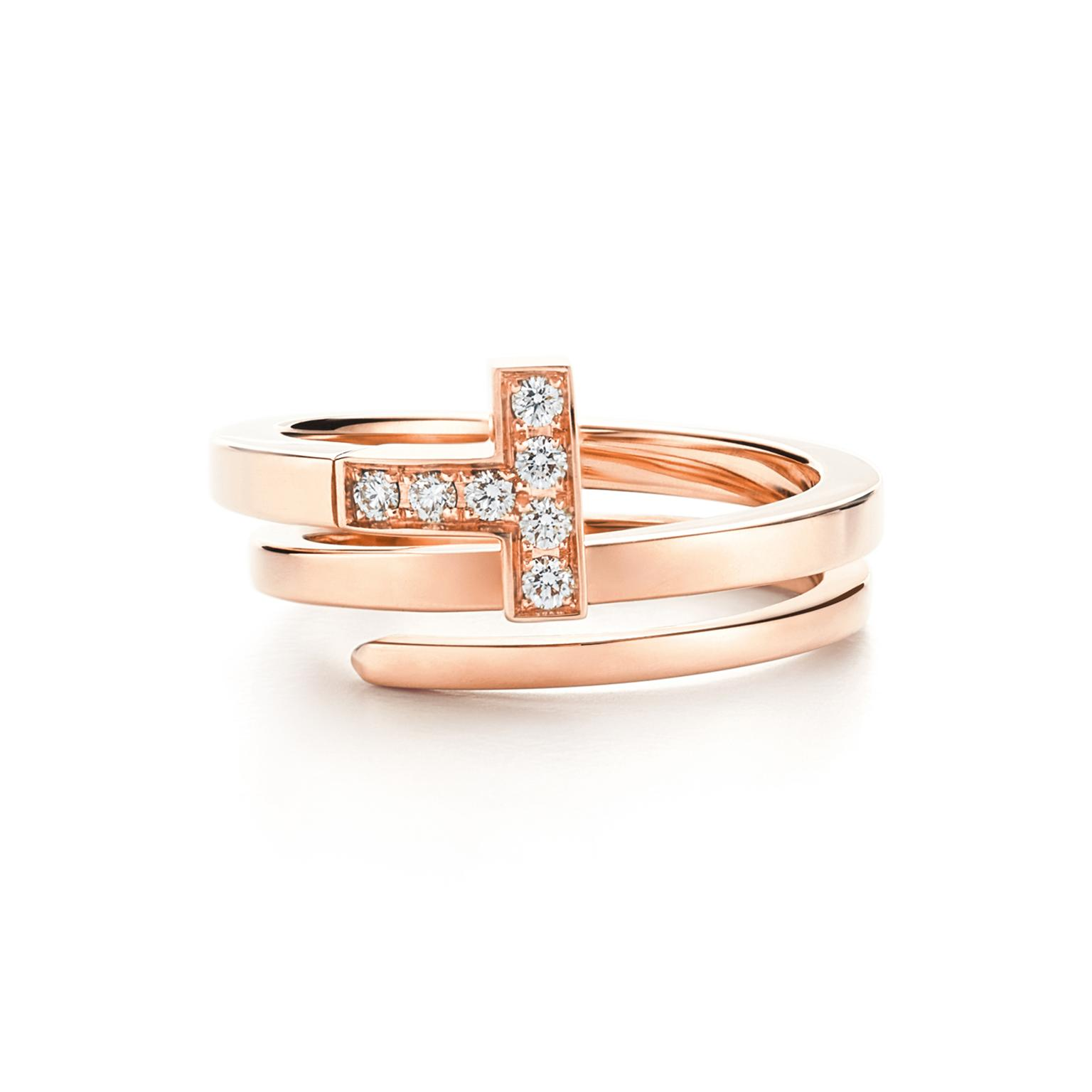 Tiffany T rose gold ring