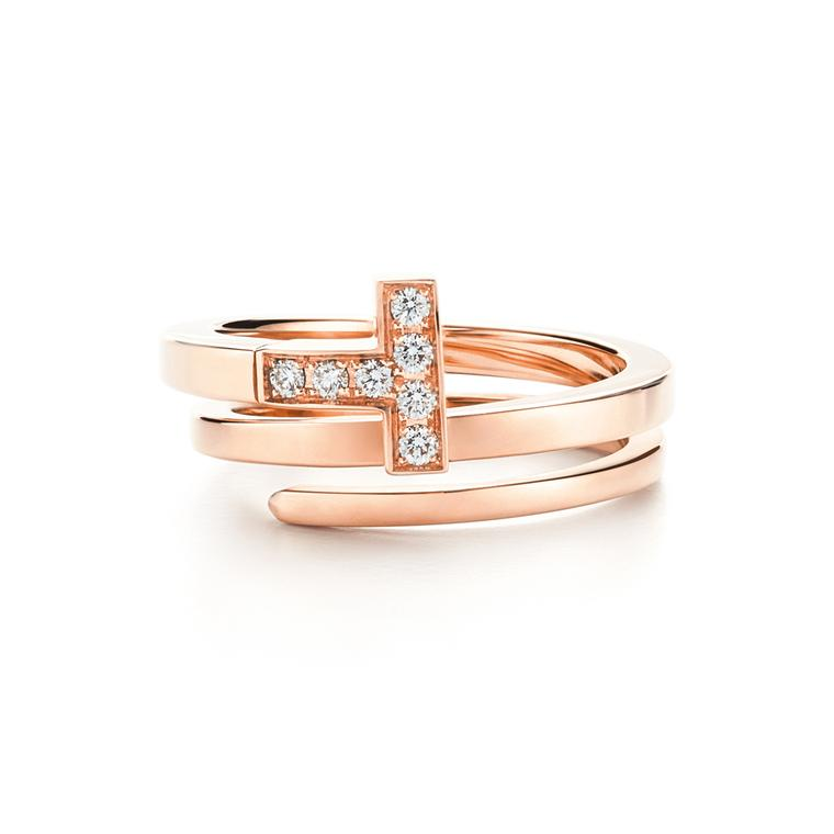 Tiffany T wrap ring in rose gold