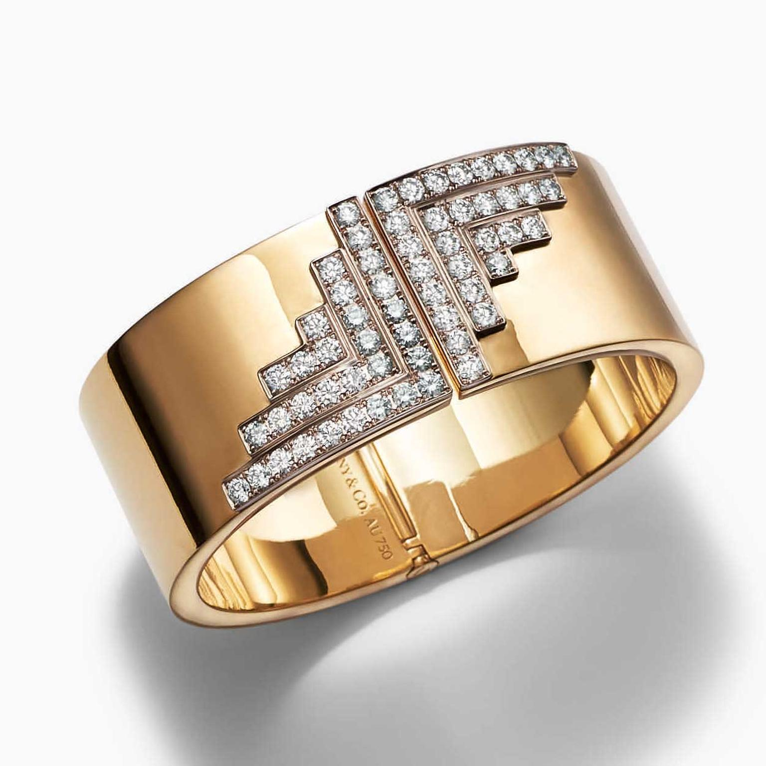 Out of Retirement Tiffany hinged gold cuff with diamonds, available at Dover Street Market