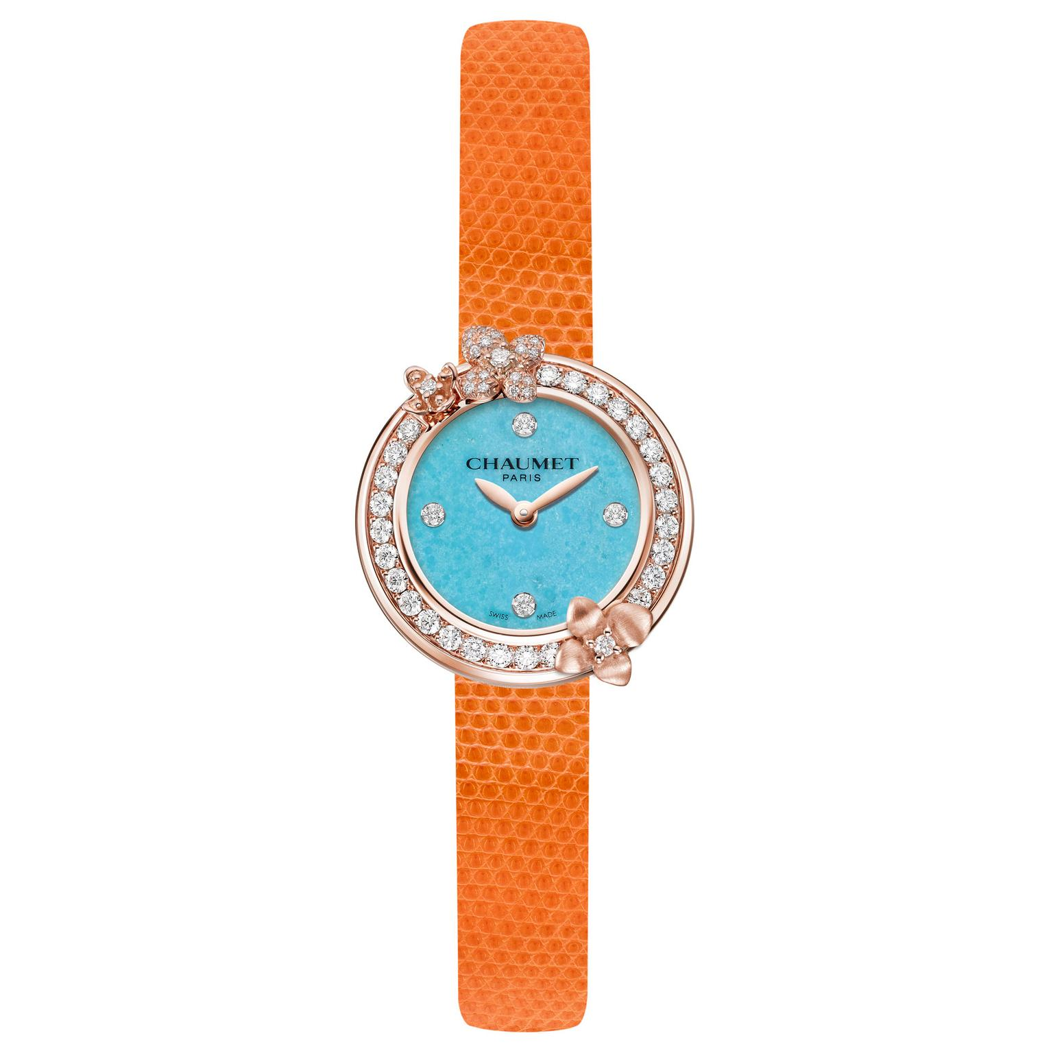 Chaumet Hortensia Eden watch with turquoise dial
