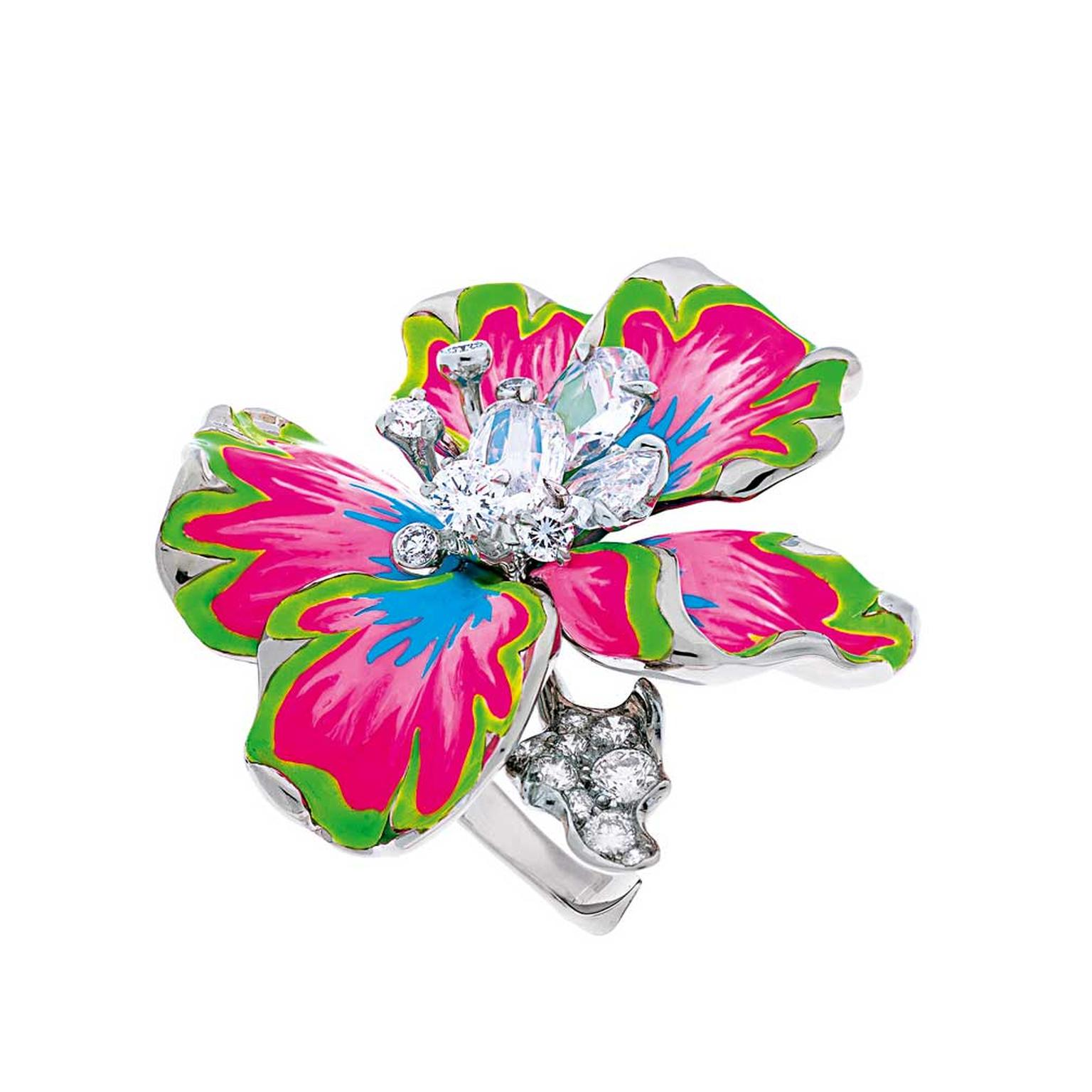 Dior-Milly-Carnivora-lacquer-and-diamond-white-gold-flower-ring