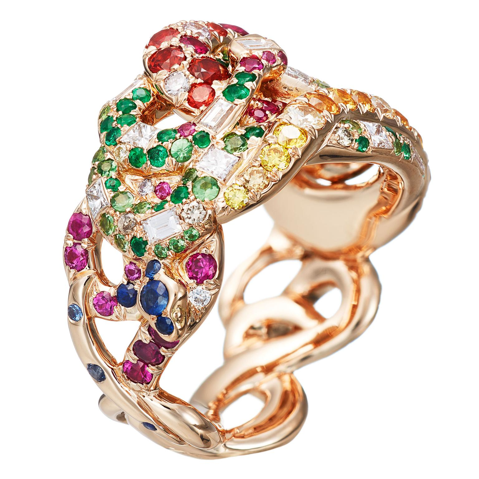 AENEA-Sarpa-Ring-4-Snakes-multicolor-gemstone