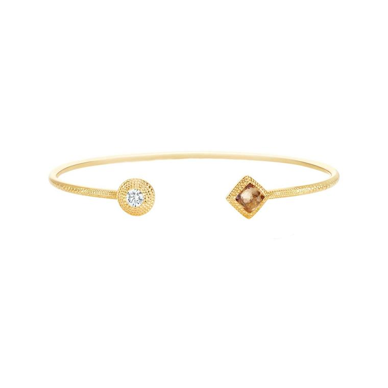 De Beers Talisman rough diamond open bracelet