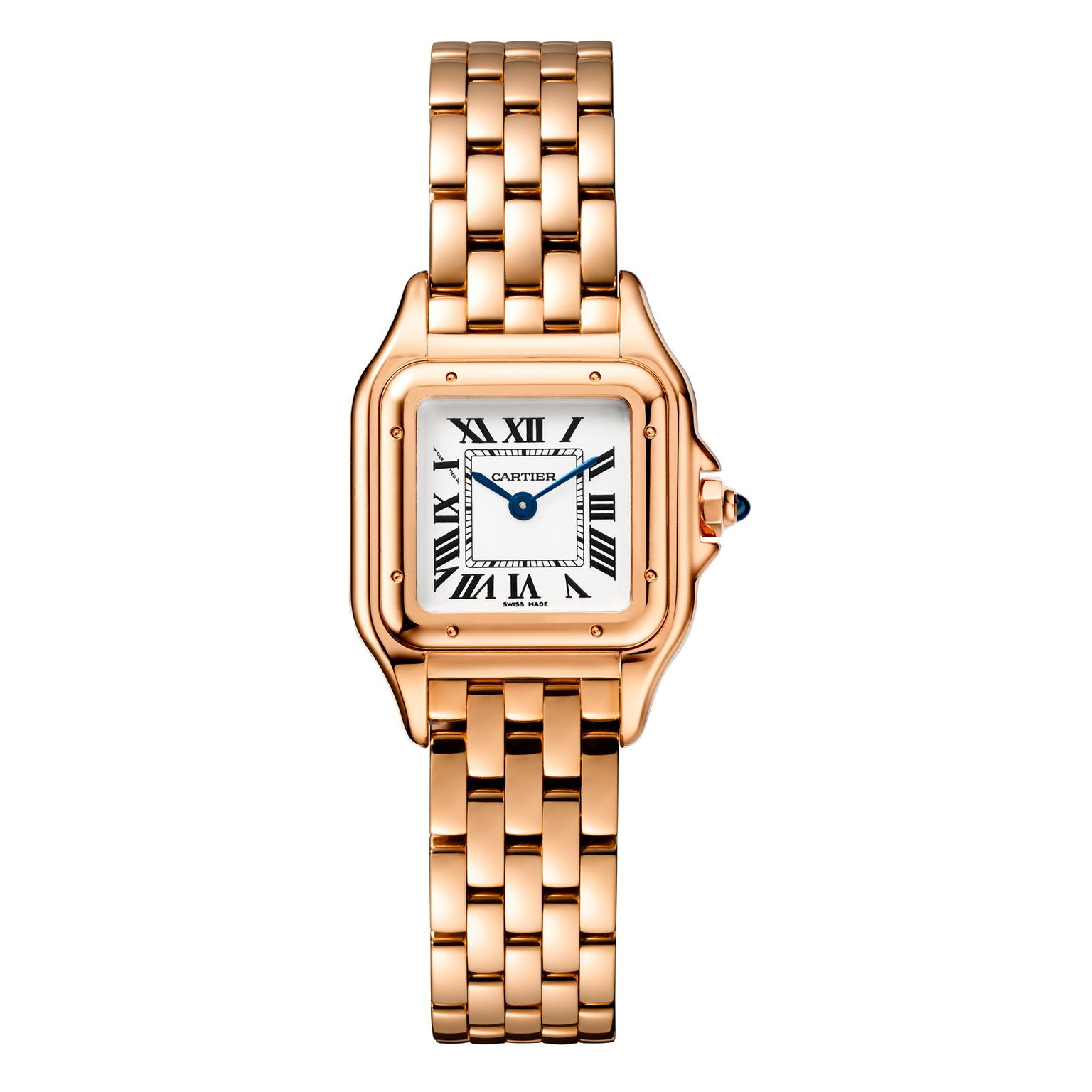 Small size Panthère de Cartier watch in rose gold