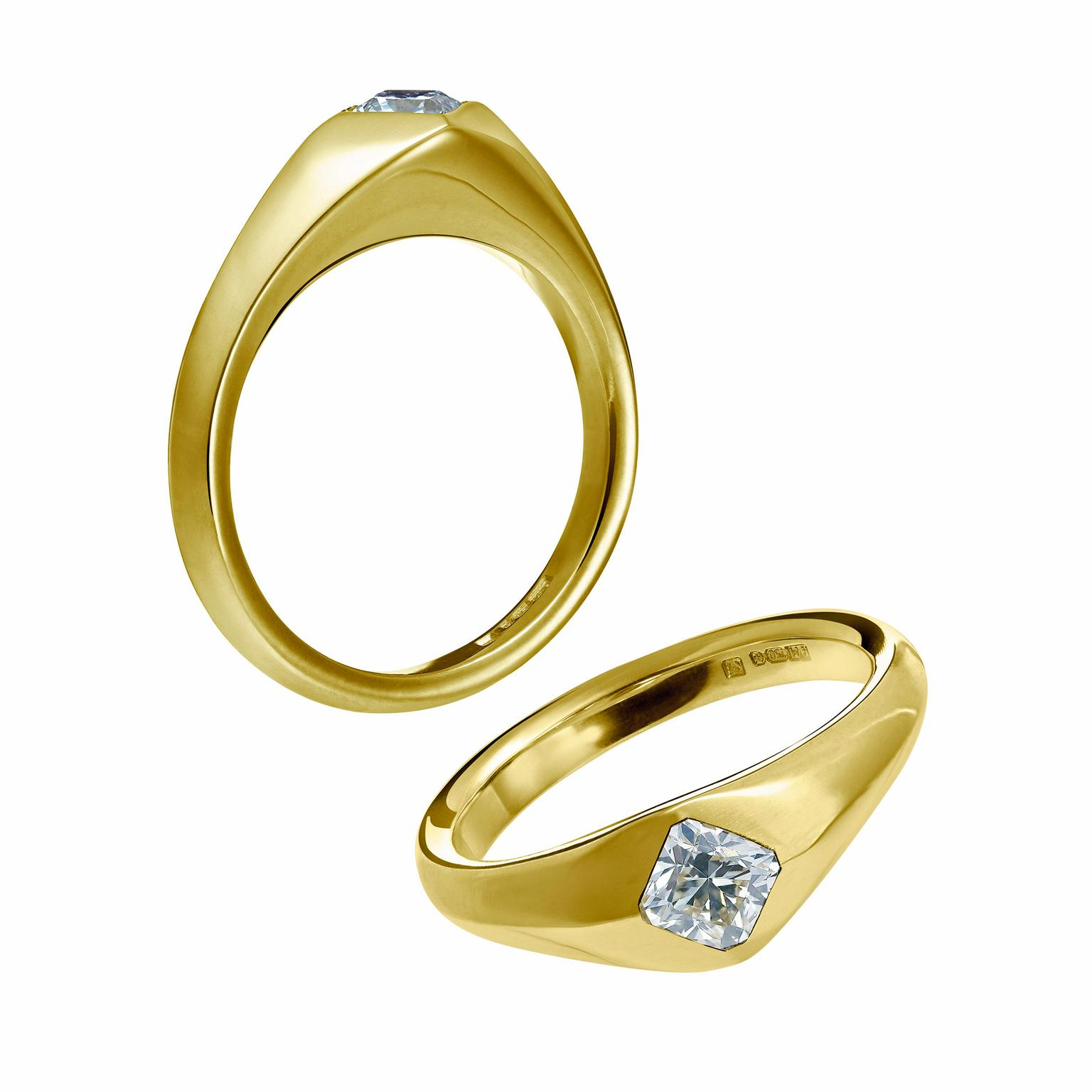 Arctic Circle Fairtrade yellow gold and diamond engagement rings