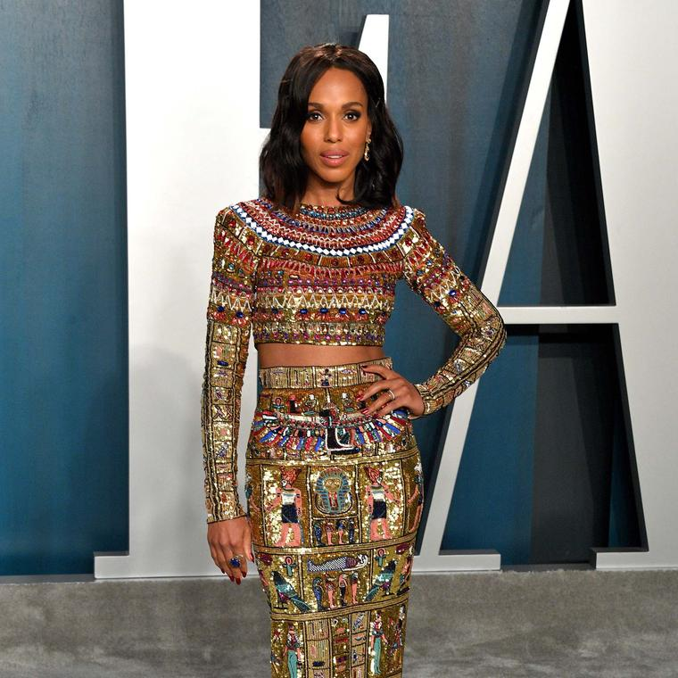 Actress Kerry Washington dazzled in Azza Fahmy