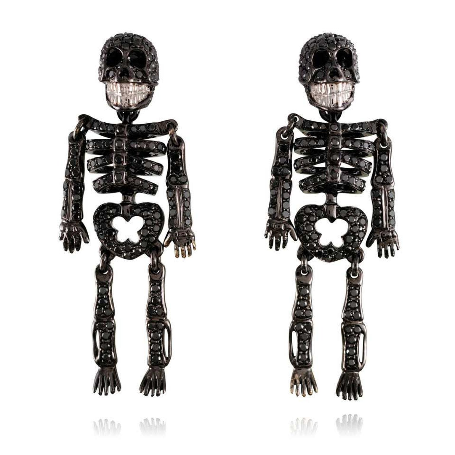 Lydia Courteille skeleton earrings