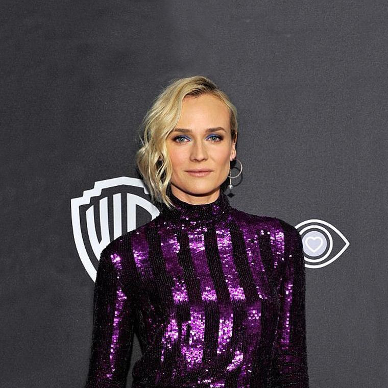 Diane Kruger wearing Alina Abegg hoop earrings