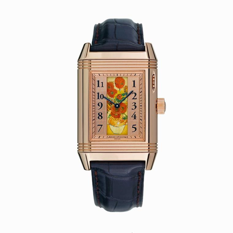 Jaeger-LeCoultre Reverso à Eclipse Sunflowers watch half open