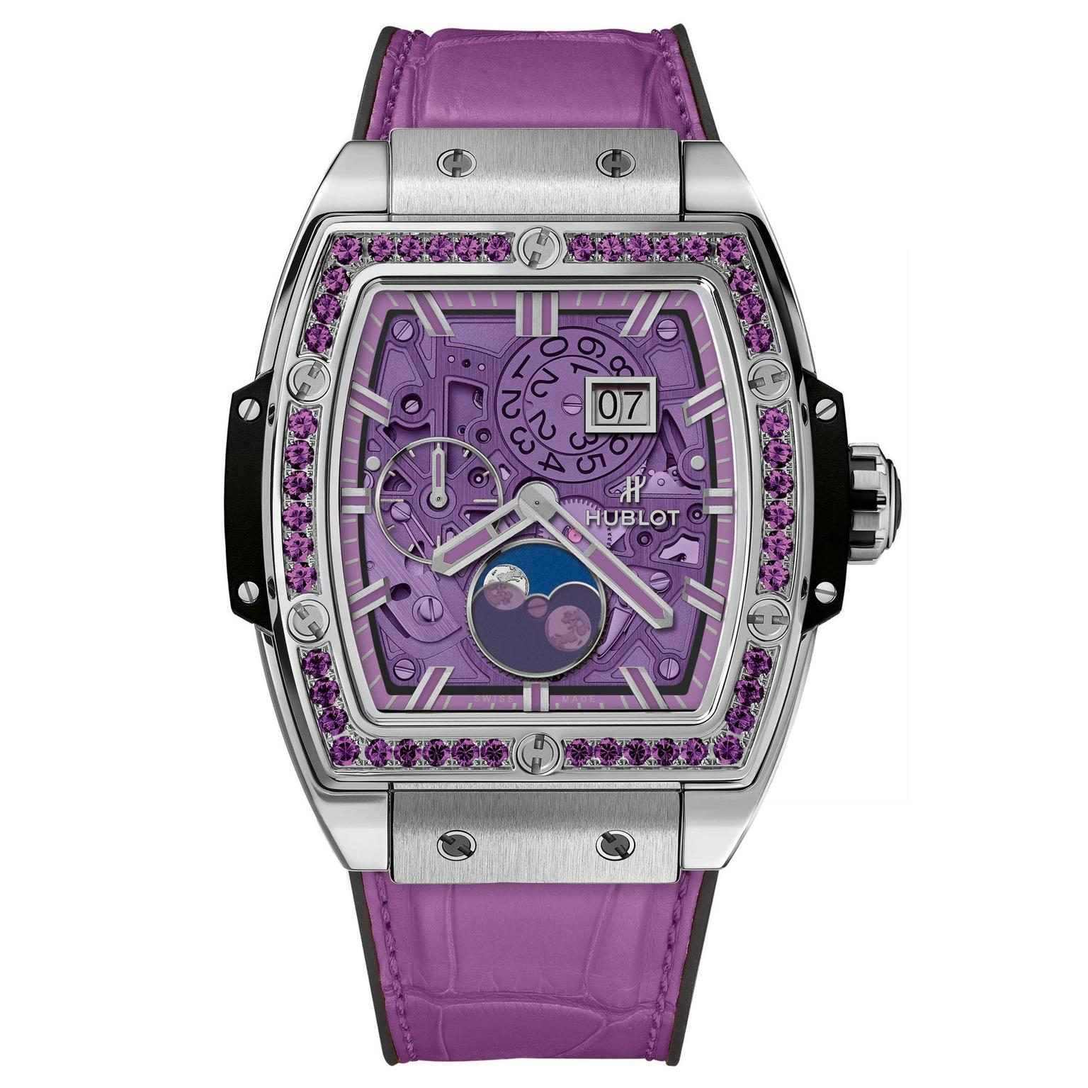 Hublot Spirit of Big Bang Moonphase Titanium Purple