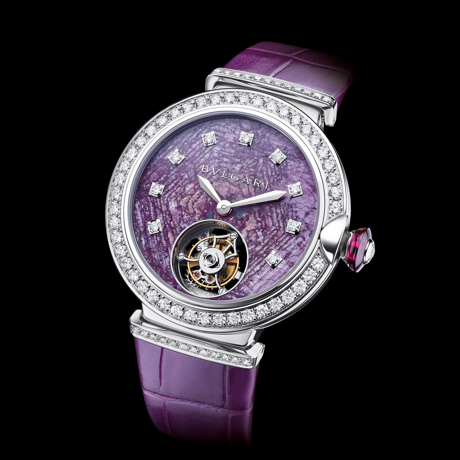 Bulgari LVCEA Tourbillon with ruby dial