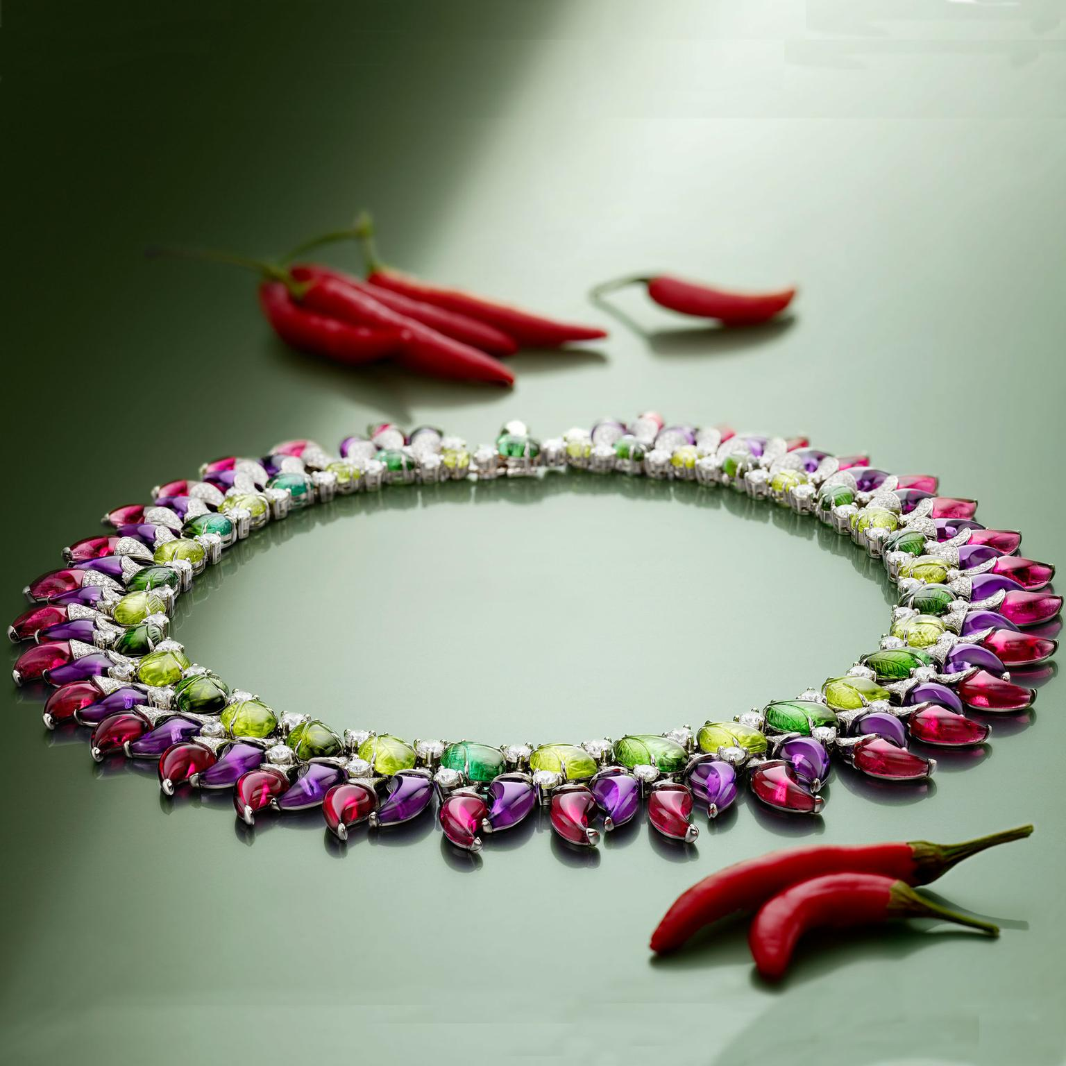 Bullgari Festa Peperoncini chili pepper high jewellery necklace