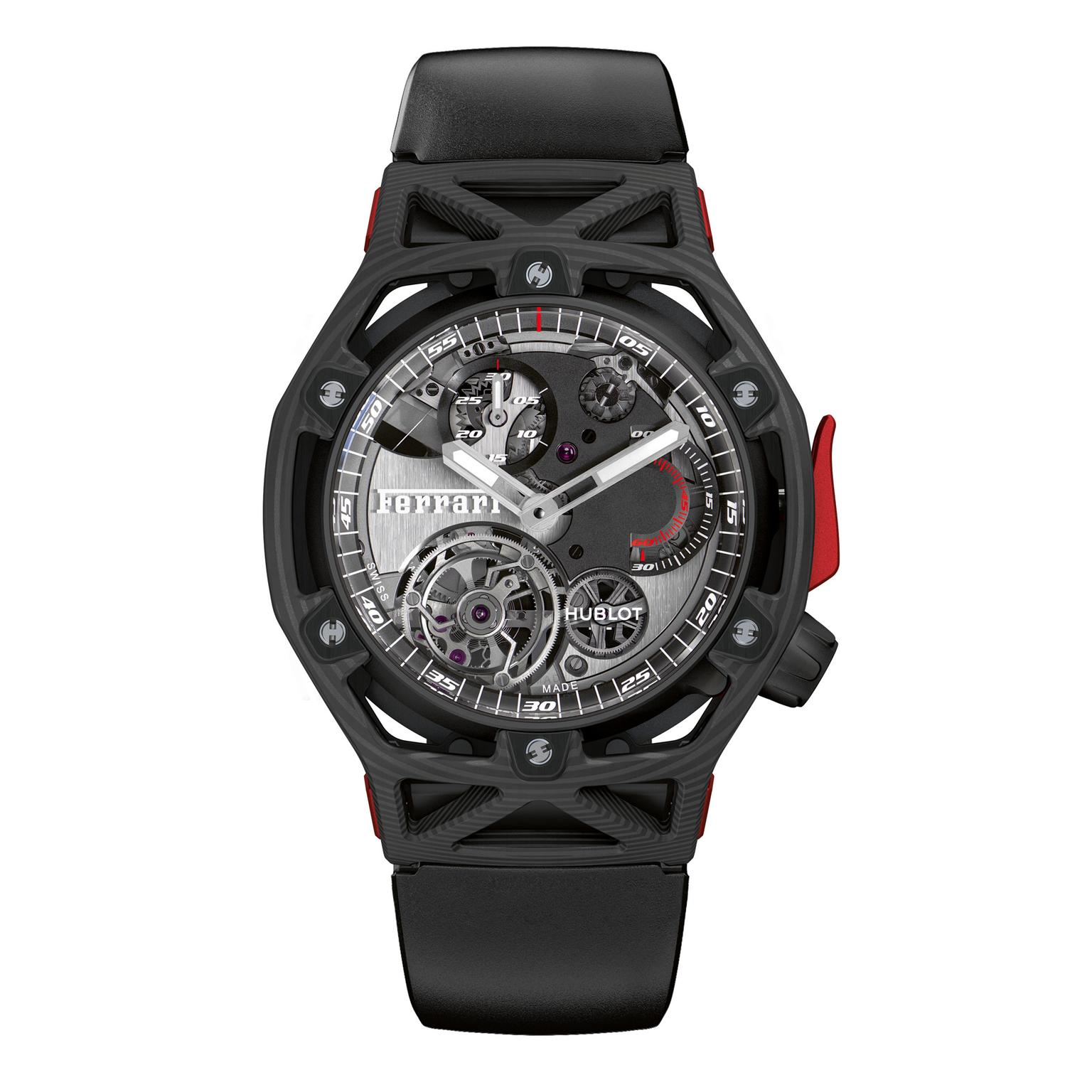 Hublot Techframe Ferrari 70 Years Tourbillon Chronograph watch