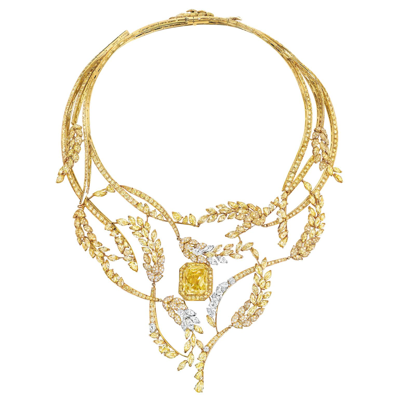 Chanel Les Blés Fete des Moissons yellow diamond necklace