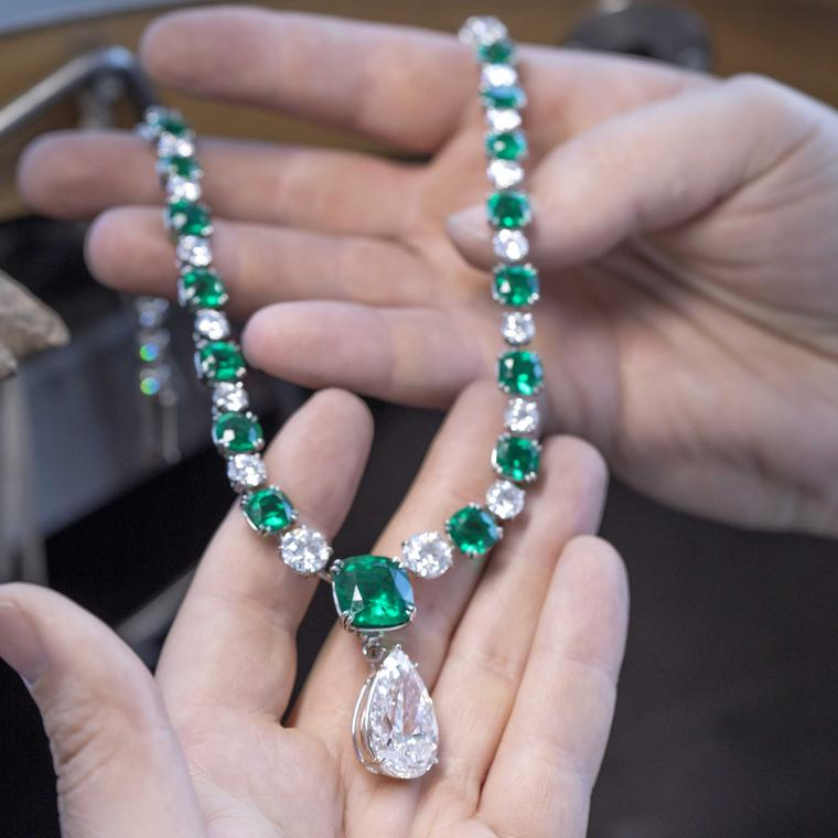 Chopard emerald necklace Red Carpet Collection 2018
