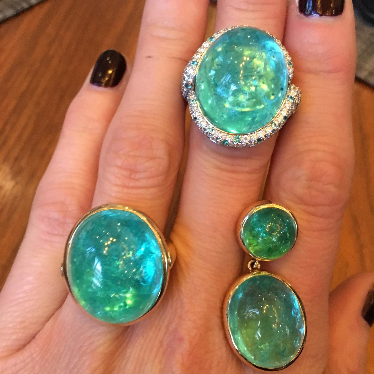 Doris Hangartner Paraiba-like tourmaline and Paraibas