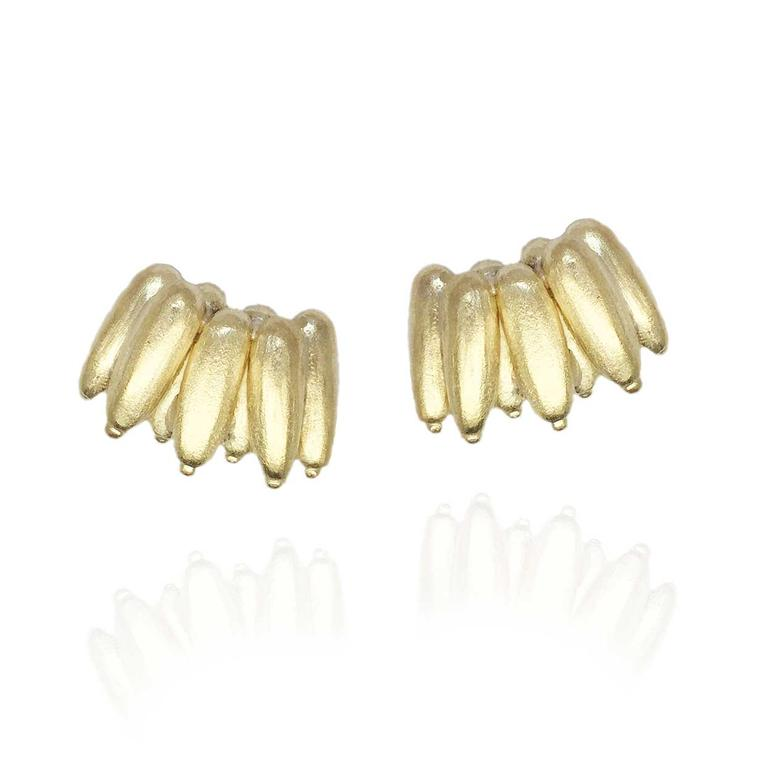 Carla Amorim yellow gold Banana studs