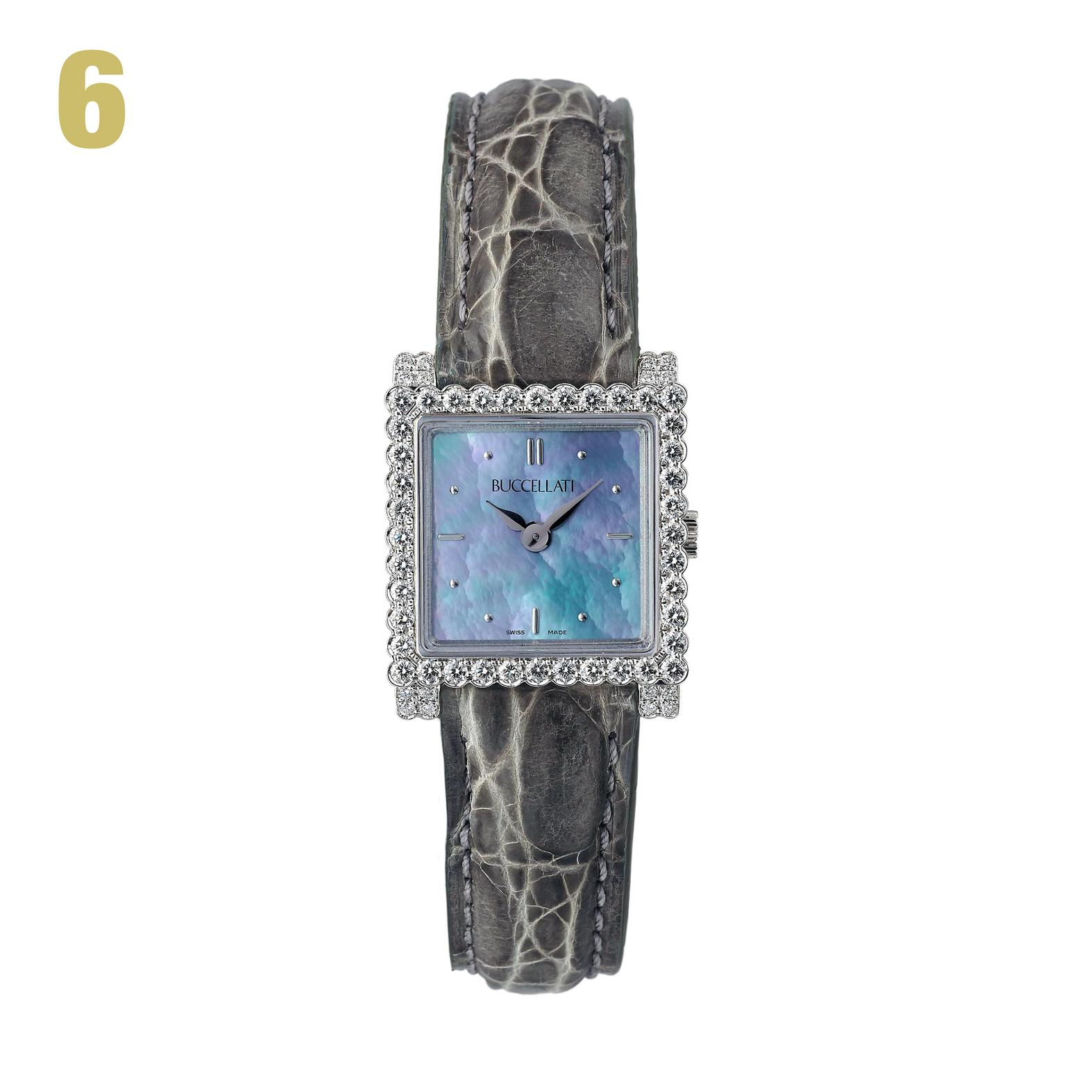 6 Buccellati Venus diamond and white gold watch