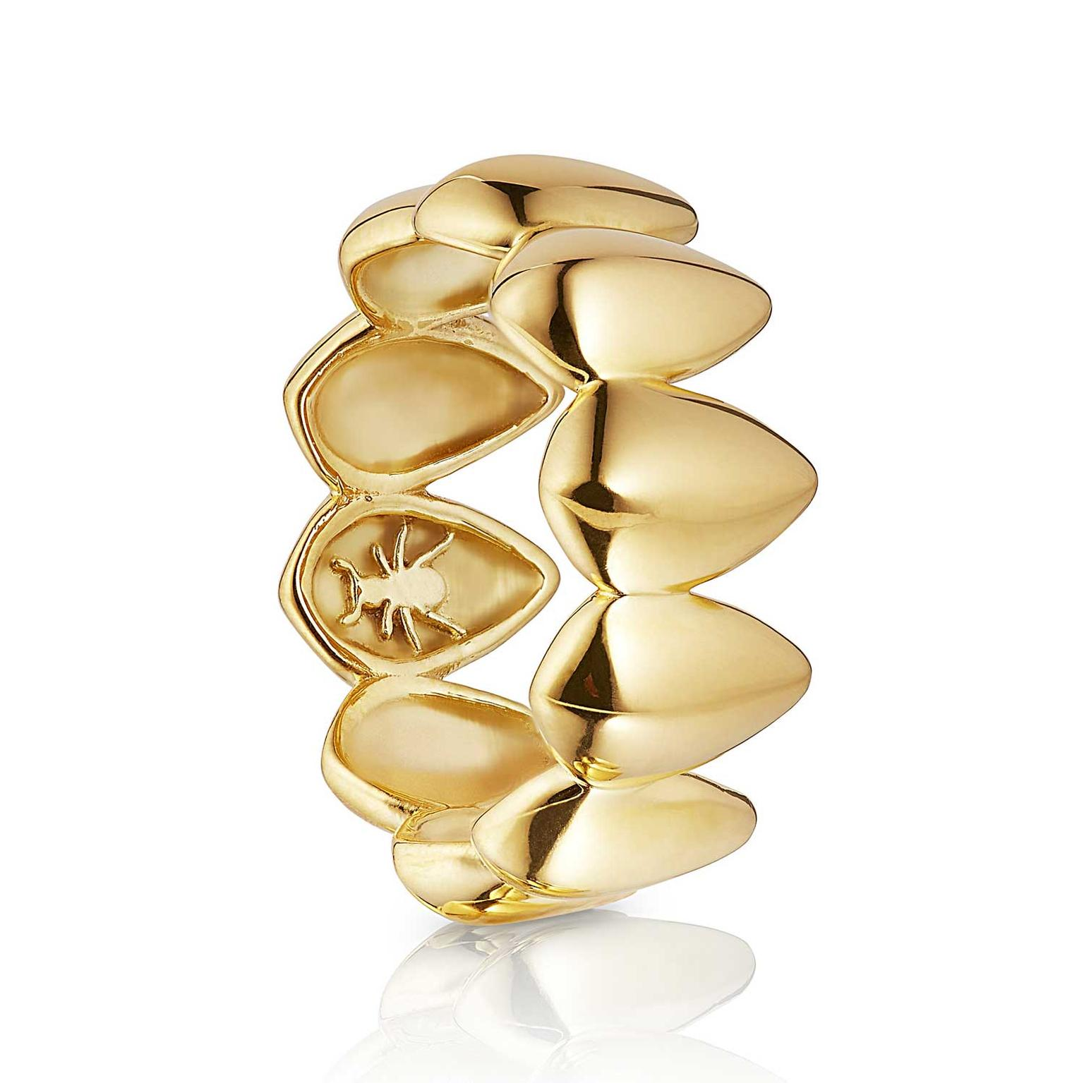 Patrick Mavros Pangolin Scale ring in gold