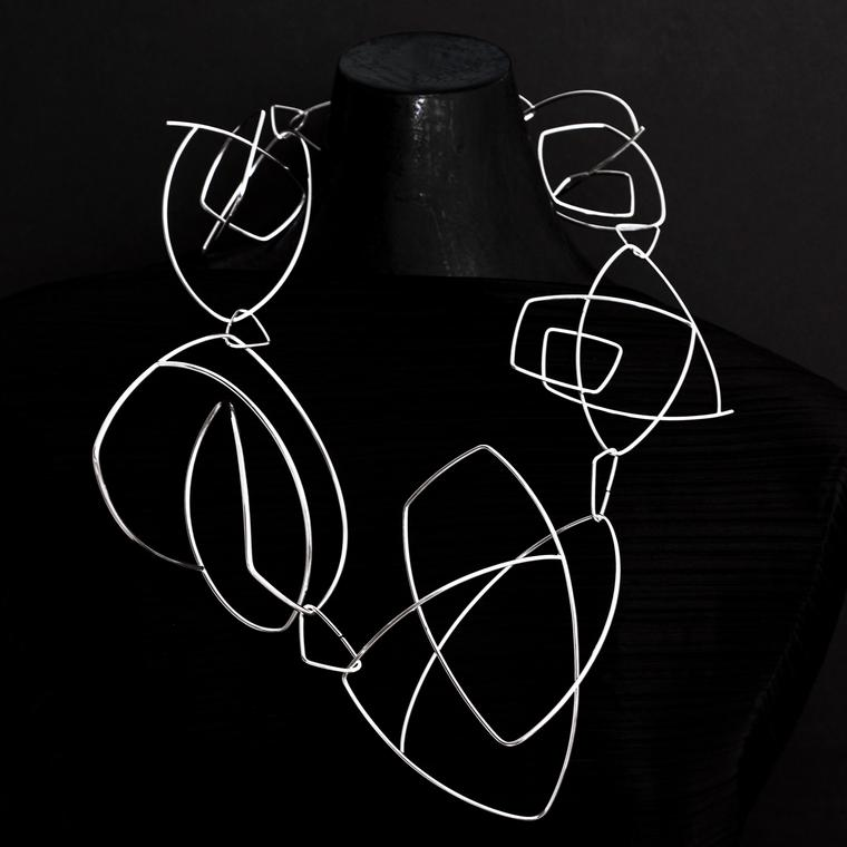 Ute Decker Geometric Poetry neckpiece