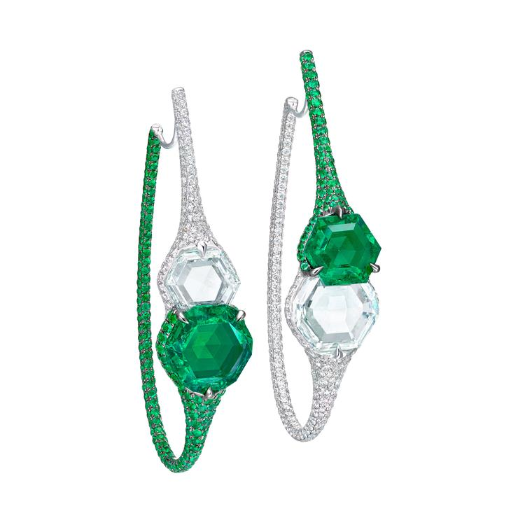 Boghossian emerald diamond earrings