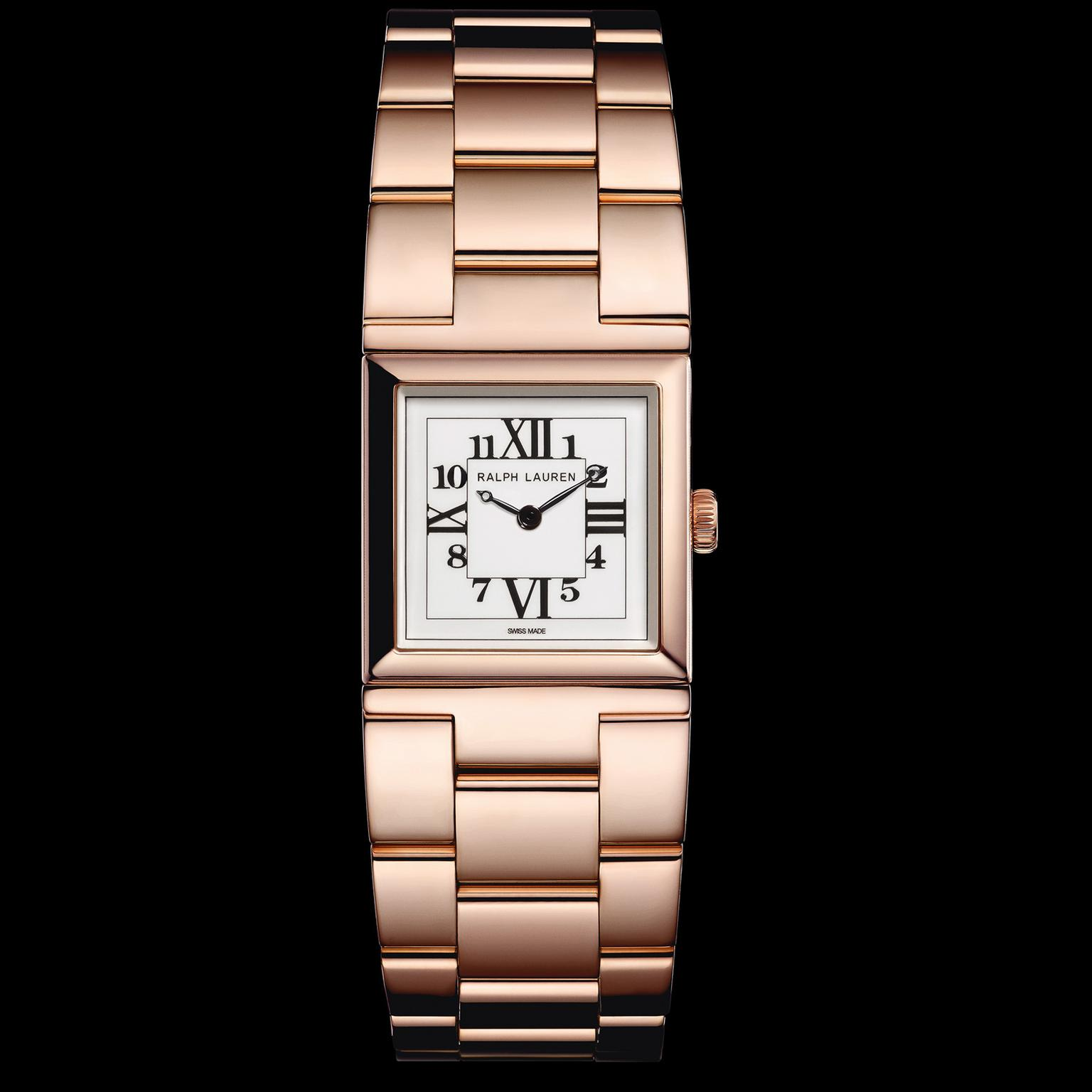 Ralph Lauren 867 petite rose gold watch