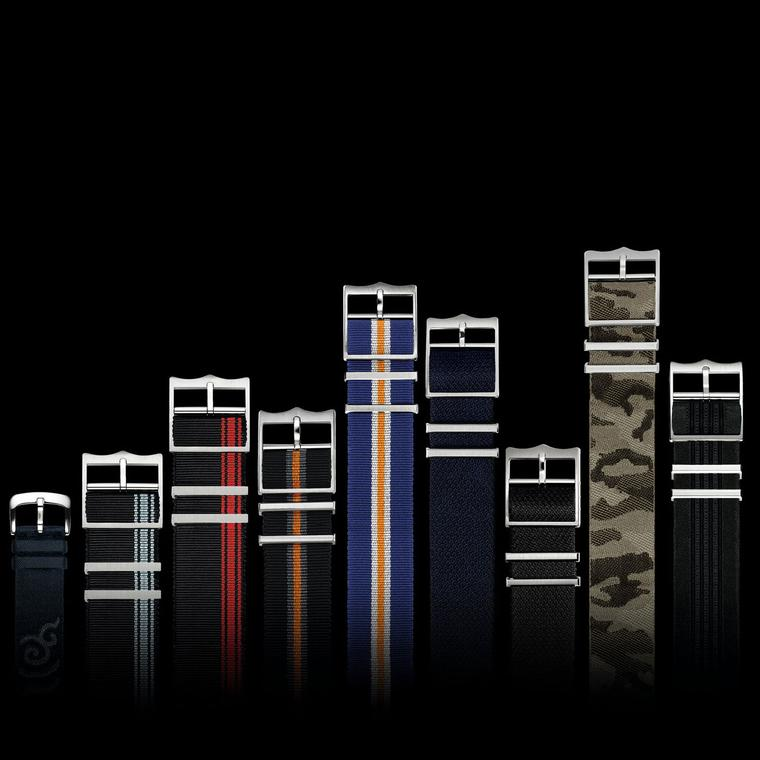 Tudor's range of fabric watch straps