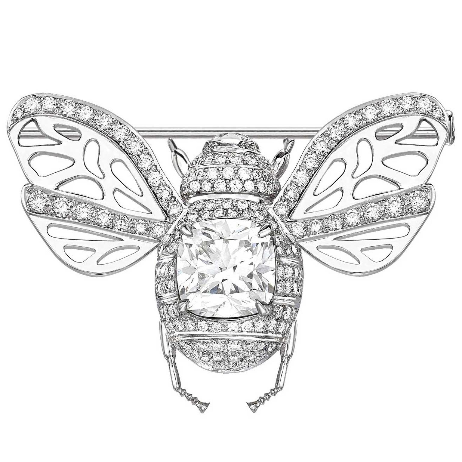 Theo Fennell Forevermark diamond Bee brooch