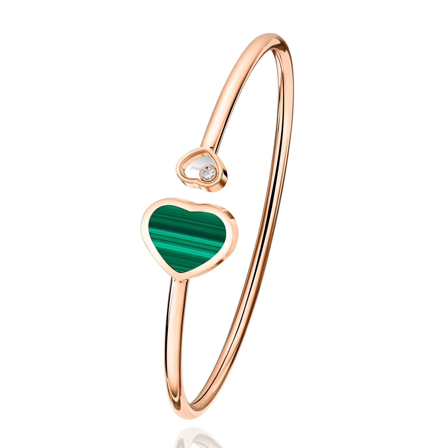 Chopard Happy Heart Bangle with malachite
