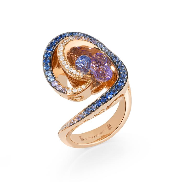 de GRISOGONO amethyst and sapphire briolette ring