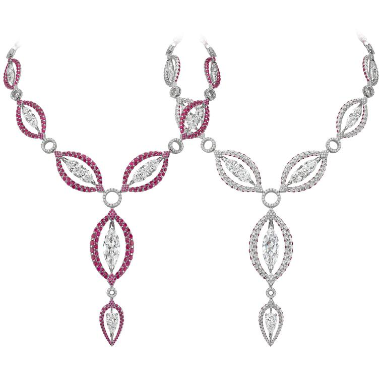 Boghossian reversible ruby and diamond Les Merveilles necklace