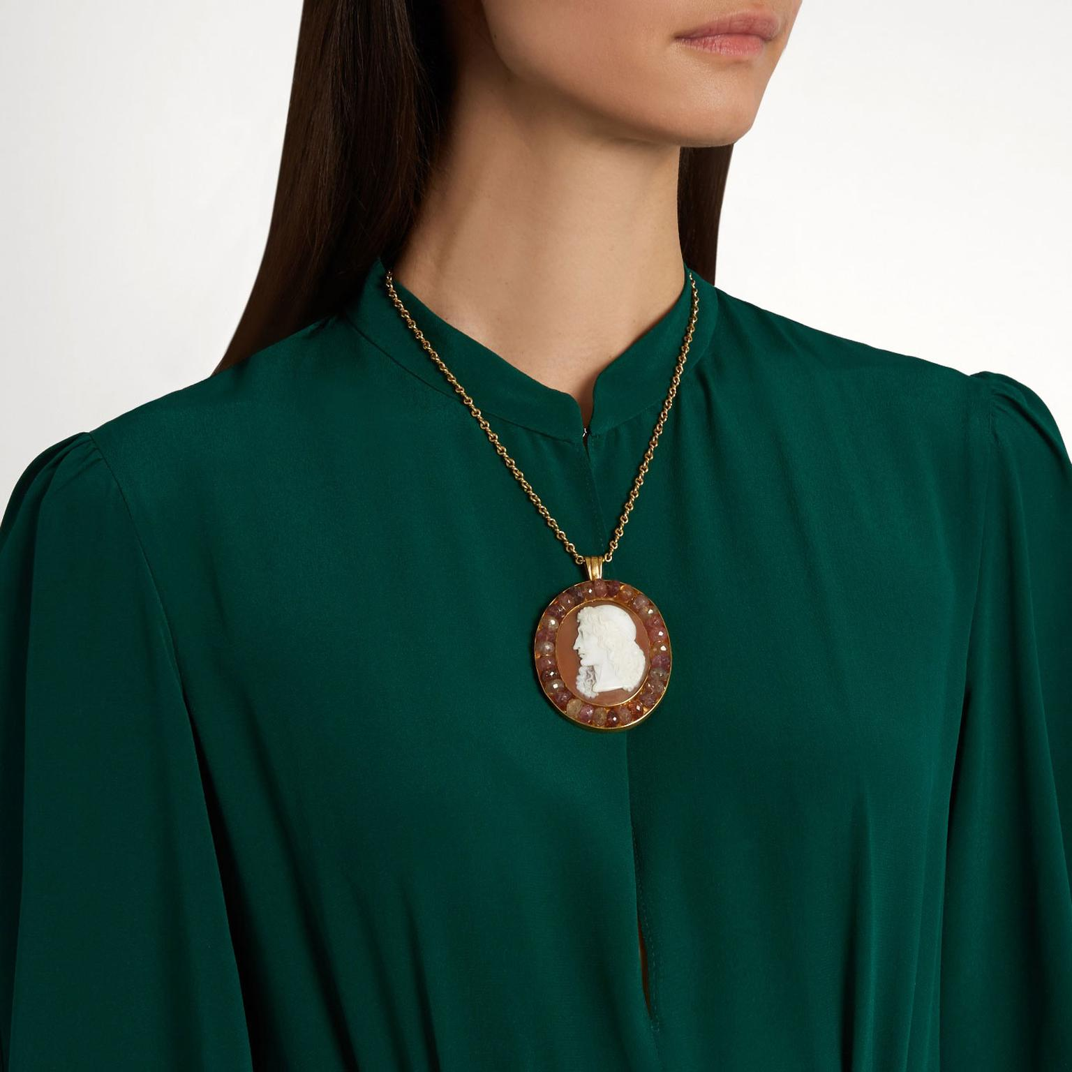 Brigid Blanco cameo necklace