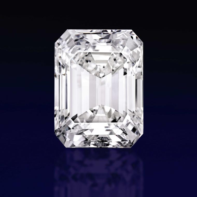 Sold in April 2015, the Ultimate Emerald cut is 100.20 carats D colour, but only Internally Flawless. It sold in Sotheby's New York 21 for US$ 22.1 million or US$220.459 per carat and is the 4th most valuable white diamond ever sold at auction.