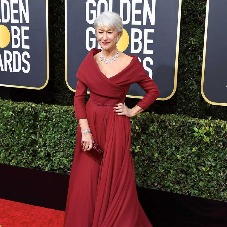 Helen Mirren Golden Globes Harry Winston jewels