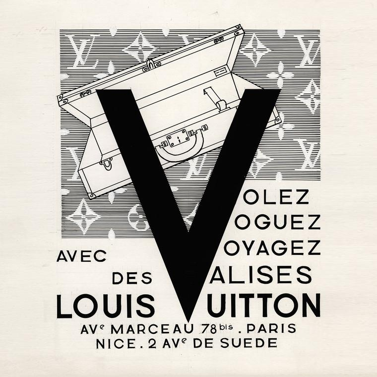 Louis Vuitton advertising from 1960s